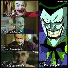 Everyone is talking about Ledger and claiming that he is the best Joker but for me Hamill is the only Joker.