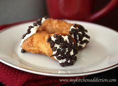 Chocolate Chip Cannoli    CANNOT WAIT TO MAKE THIS!!! It took me forever to find this recipe!