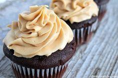 Cherry Tea Cakes: Chocolate Peanut Butter Cupcakes