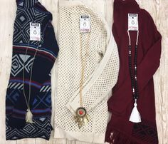 Come check out our selection of patterned knitted and fringed...