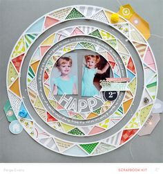 Happy 2nd Birthday by PaigeEvans at @studio_calico - die cut circles