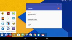 Taskbar (Donate Version) v3.5   Taskbar (Donate Version) v3.5Requirements:5.0Overview:Taskbar puts a start menu and recent apps tray on top of your screen that's accessible at any time increasing your productivity and turning your Android tablet (or phone) into a real multitasking machine!  On devices running Android 7.0 Nougat Taskbar can also launch apps in freeform windows for a PC-like experience! No root required! (see below for instructions)  Also works great as an Android app launcher…