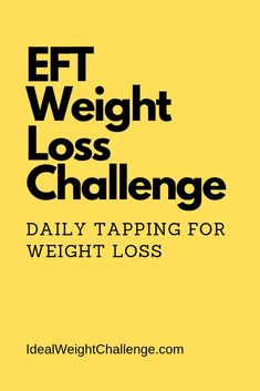 Acupressure Weight Loss Daily EFT (Emotional Freedom Techniques) tapping challenge for weight loss. When using EFT for weight loss I strongly recommend daily tapping. Weight Loss Meals, Weight Loss Blogs, Weight Loss Challenge, Losing Weight Tips, Fast Weight Loss, Weight Loss Program, How To Lose Weight Fast, Loose Weight, Lose Weight Naturally