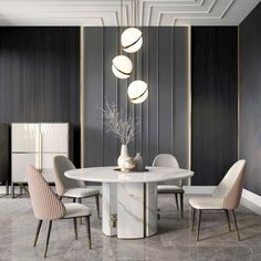 Luxury Italian Designer Contemporary Round Marble Dining Table Set - Dining Set - Ideas of Dining Set Italian Furniture, Luxury Furniture, Furniture Design, Modern Furniture, Furniture Makers, Outdoor Furniture, Furniture Ideas, Antique Furniture, Rustic Furniture