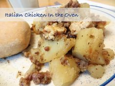 Italian Chicken In the Oven #Recipe -- an authentic recipe handed down from an Italian Grandma!