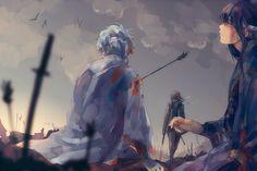 Gintoki, Katsura, Takasugi #blood