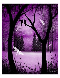 Fantasy Forest Tree Art Print