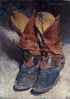 Boots Abiding, oil, by Jill Soukup