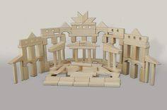 Large set of maple blocks. Full 5 gallon bucket full of maple wooden building blocks. 6 year olds love to build and this set has 132 of Back To Blocks biggest and best blocks. Buy it now at http://backtoblocks.com/maple-blocks-wooden-wonder-132-blocks.html