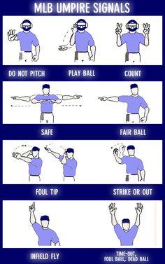 MLB Umpire Signals!