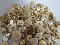 Get creative with these Gold Coloured But... come have a look. http://www.smartasabutton.com/products/gold-coloured-button-assortment?utm_campaign=social_autopilot&utm_source=pin&utm_medium=pin #smartasabutton #buttons #craftsandhobbies