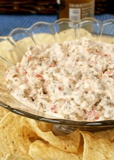 Sausage Cream Cheese Dip made with just three ingredients is my FAVORITE dip for parties!