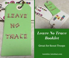 Leave No Trace Booklet
