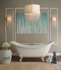 Füsschenbadewanne und filigrane dekoration
