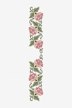 Floral Stencil pattern - Free Cross Stitch Patterns, You can make really specific patterns for textiles with cross stitch. Cross stitch versions can nearly amaze you. Cross stitch novices could make the versions they want without difficulty. Cross Stitch Borders, Cross Stitching, Cross Stitch Embroidery, Cross Stitch Patterns, Embroidery Patterns, Hand Embroidery, Stencil Patterns, Loom Patterns, Flower Patterns