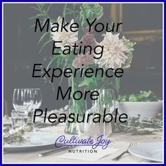 Make Your Eating Experience More Pleasurable One Meal A Day, Progress Not Perfection, Vegan Nutrition, Take Care Of Your Body, Intuitive Eating, Mindful Eating, Sounds Good, Trying To Lose Weight, Relaxing Music