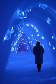 LEVI ICE HOTEL, FINLAND Frozen Corridor VIA Beautiful Amazing World