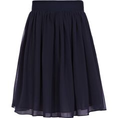 Reiss flared skirt. Mason in navy blue is a high waist floaty skirt, In double layers of sheer chiffon, this summery style has pretty mini pleats to the wide, …