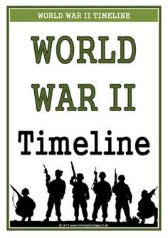 A set of 35 printables showing a timeline of World War Two. Pages show the key events that took place during the time. A visual and informative set that will prove to be an excellent aid for students learning about this topic! Visit our TpT store for more information and for other classroom display resources by clicking on the provided links.