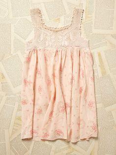 Free People Vintage 1950s Floral Satin Mini Dress, $228.00