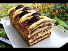 Вкусна и Лесна Торта со Ванилен Пудинг !!! - YouTube Holiday Desserts, Cake Recipes, Deserts, Make It Yourself, Cookies, Breakfast, Ethnic Recipes, Genere, Youtube