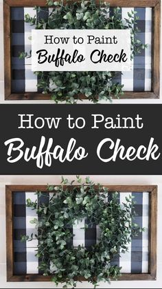 How to paint a buffalo check plaid sign without a stencil. chic decor diy videos How to paint buffalo check plaid