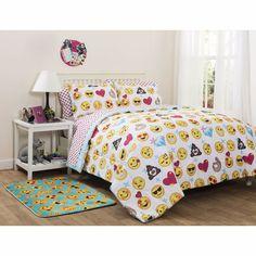 Emoji Bed In a Bag Bedding Super Soft Comforter Queen Size Microfiber Duvet Set #EMOJI