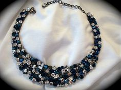 Dark Blue Statement Necklace - product images  of