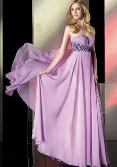 Chic & Modern Sweetheart A line Chiffon With Beading Empire Prom Dresses -