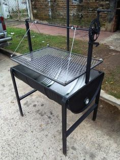 Outdoor Cooking Area, Outdoor Oven, Custom Bbq Smokers, Bbq Stand, Grill Gazebo, Brick Bbq, Backyard Fireplace, Summer Grilling Recipes, Grill Design