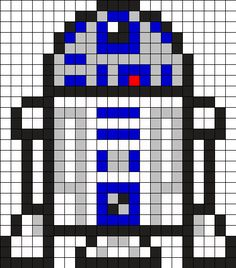 R2D2 Star Wars Perler Bead Pattern
