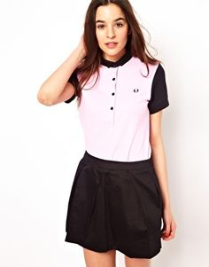 Fred Perry For The Amy Winehouse Foundation Colour Block Polo Shirt