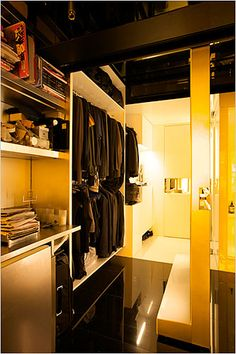Hong Kong apartment-the bedroom...with a murphy bed-like ...