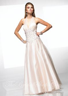 Size 6 vanilla with multi-colored beading. Now only $195.