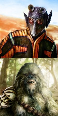 Rodian and Wookie