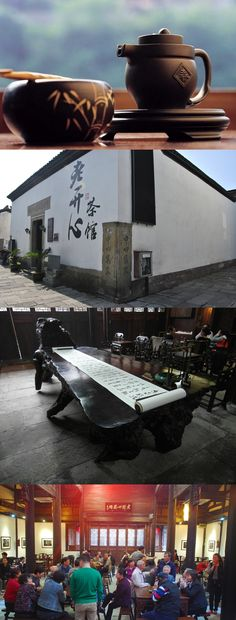 [Dialogue with the Grand Canal] Tea gathering is one of the traditional canal lifestyle long enjoyed by the locals. Lao Kai Xin Teahouse right besides the Grand Canal is an ideal place to experience tea culture next to the Canal.  Go to Lao Kai Xin Teahouse: Jixiangsi road, Gongshu District, Hangzhou#teahouse #teaculture
