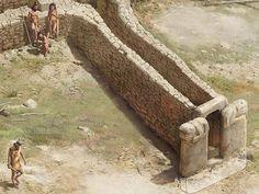 Gobekli Tepe entrance reconstruction - 10,000BC!