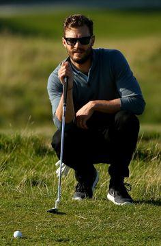 Jamie Dornan - Em torneio de Golf na Escocia, 30/09/2015