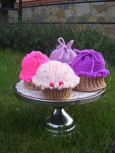 Ravelry: Cutie Cupcake Project Bag pattern by Deena White