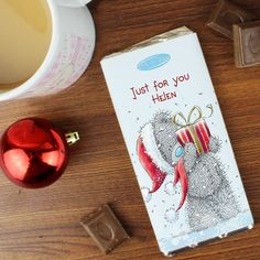 Personalised Me To You Tatty Teddy Christmas Chocolate Bar, Personalise this Me To You Chocolate Bar with any message Available From Creative Gifts uk