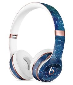 The Grungy Blue Green Stars Surface Full-Body Skin Kit for the Beats by Dre Solo 3 Wireless Headphones