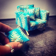 """180 Likes, 6 Comments - Mad Missy Minis (@mad_missy_minis) on Instagram: """"I've been experimenting with fabrics & design - here's a little tropical occasional chair for…"""""""