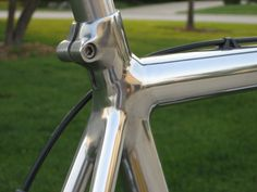 Hand polished Cannondale top tube/seat tube/seat stays