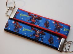 Superman, Comic Book, Superhero Keychain Wristlet You Pick. $6.00. Find Bonzai Gifts on Facebook for more!
