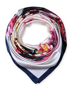 corciova Women's Graphic Print Silk Feeling Square Scarf Neckerchief 35x35 Inches Oxford Blue $9.99 Free Shipping @Amazon.com