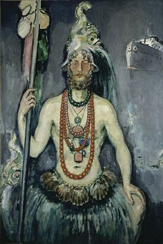 Self Portrait as Neptune, 1922 by Kees van Dongen.  Van Dongen painted some of the most fashionble and glamerous people of his day, and was himself a stylish and artistic dresser.