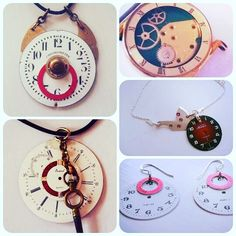 CHRISTMAS COLLECTION  Unika halsband tillverkade av gamla klockdelar. CARL LIND URDESIGN