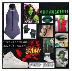 """""""SHe Hulk!!!"""" by niaawesomeee ❤ liked on Polyvore featuring Lisa Marie Fernandez, Funk Plus, NIKE, adidas, Edge Only and Microsoft"""