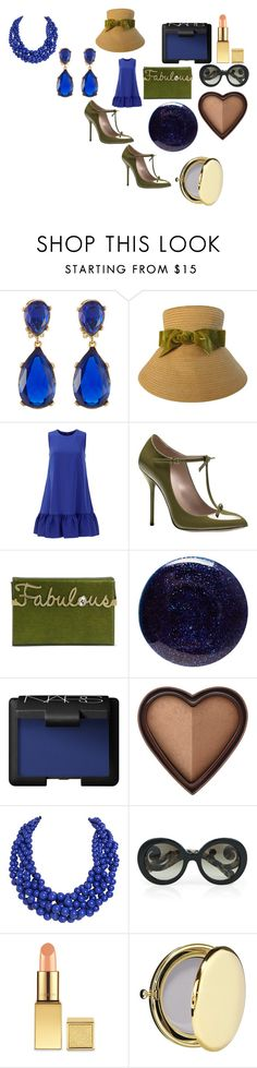 """Audrey Hepburn In Paris when it sizzles"" by alisafranklin on Polyvore featuring Kenneth Jay Lane, Cynthia Rowley, Gucci, Charlotte Olympia, Lauren B. Beauty, NARS Cosmetics, Too Faced Cosmetics, Humble Chic, Prada and AERIN"