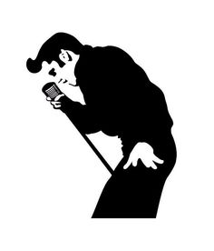 Elvis Presley Vinyl stickers Black dacal by Funnybags on Etsy